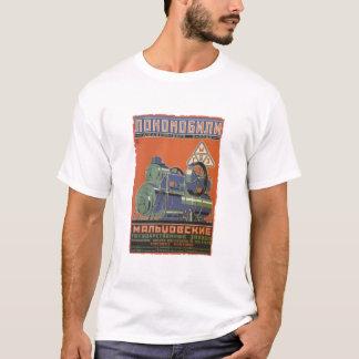 Vintage soviet locomotive ad camiseta