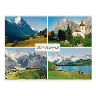 Vintage Suiza Grindelwald Postal