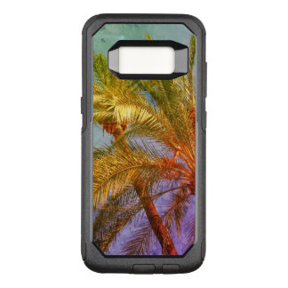 Vintage tropical de las hojas de palma funda otterbox commuter para samsung galaxy s8