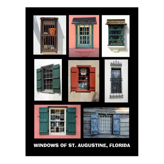Vintage Windows de St Augustine, la Florida Postal