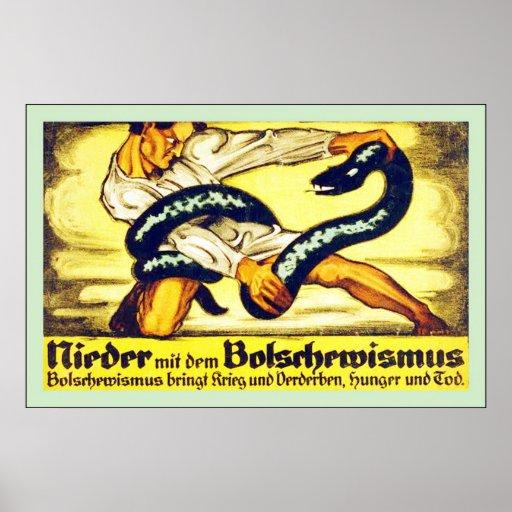 Vintage WW1 alemán del ~ del dem Bolschewismus del Posters
