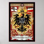 Vintage WW1 alemán del ~ del Reich de Deutsches Poster