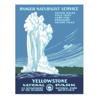 Vintage Yellowstone WPA Postal
