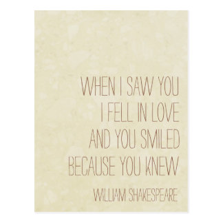 VintageLove - cita de William Shakespeare - postal