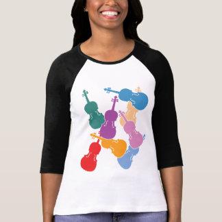 Violas coloridas camisetas