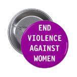 Violencia del final contra mujeres pins