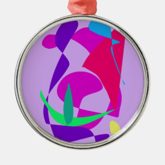 Violeta africana de la liberación ornamento para arbol de navidad