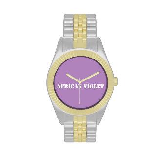 Violeta africana reloj de mano