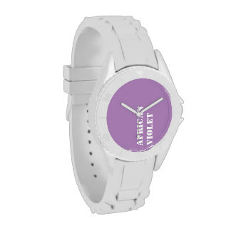 Violeta africana reloj