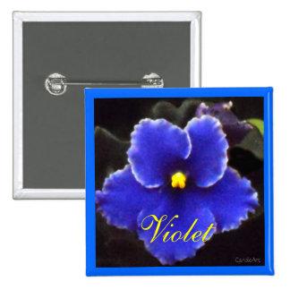 Violeta azul intensa chapa cuadrada