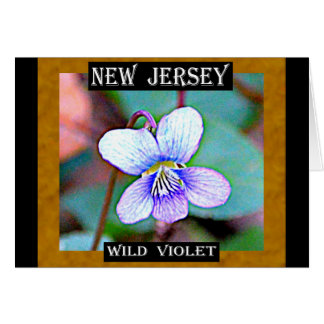 Violeta común de New Jersey Tarjeta De Felicitación