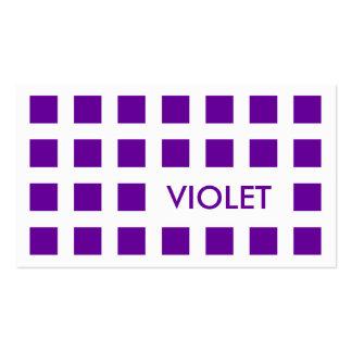 VIOLETA (cuadrados de la MOD) Tarjetas De Visita
