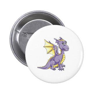 Violeta del dragón chapa redonda de 5 cm