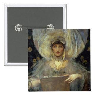 Violeta, duquesa de Rutland Chapa Cuadrada 5 Cm