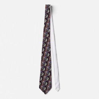 Violeta en flores corbata personalizada