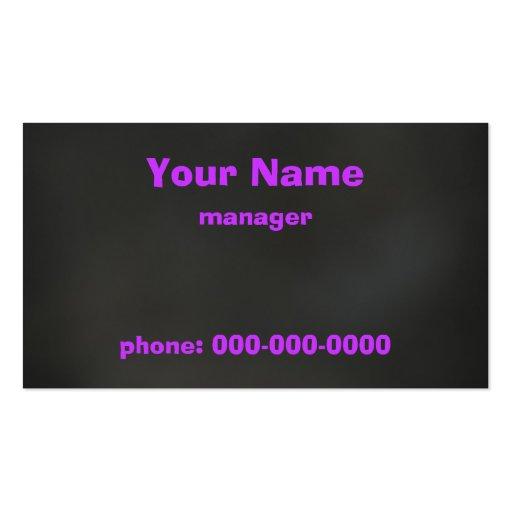 Violeta en negro tarjetas de negocios