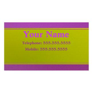 Violeta en verde tarjetas de visita