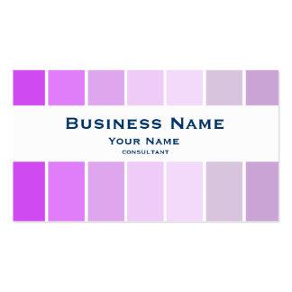 violeta fina moderna del color tarjetas de visita