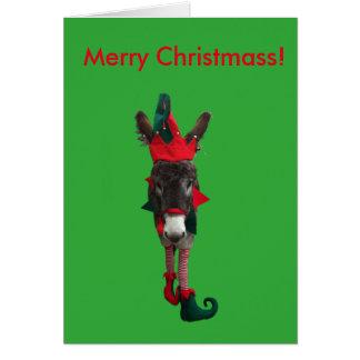 Violeta la tarjeta de Christmass del duende
