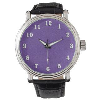 Violeta/luz tenue púrpura reloj