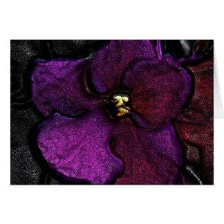 Violeta muy violeta tarjeta de felicitación