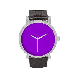 Violeta oscura reloj