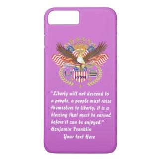 Violeta patriótica del bosque de la paz funda iPhone 7 plus