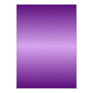 Violeta Pendiente-Oscuro de H y violado claro Invitación 12,7 X 17,8 Cm