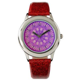 Violeta poner crema abstracta delicada de la relojes