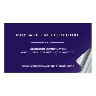Violeta profesional moderna de la plata de la tarjetas de visita