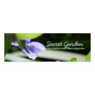 Violeta secreta tarjeta de negocio