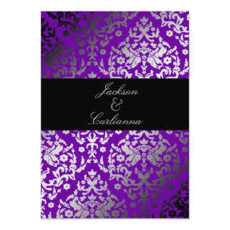 violeta vivaz del damasco 311-Dazzling Invitación 12,7 X 17,8 Cm