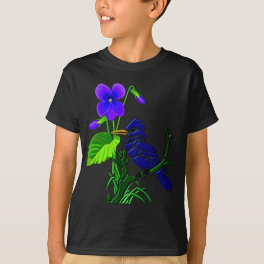 Violeta y arrendajo azul camiseta