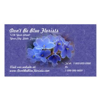 Violetas africanas azules tarjeta de visita