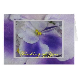 Violetas africanas tarjeta de felicitación
