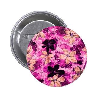 Violetas beige magentas rosadas del vintage chapa redonda 5 cm
