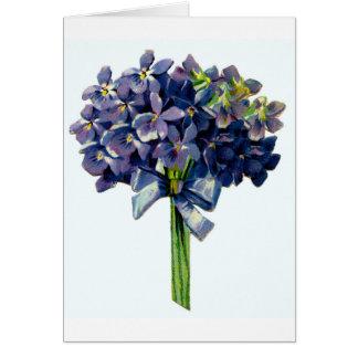 Violetas bonitas tarjeton