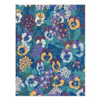 Violetas bonitas postal