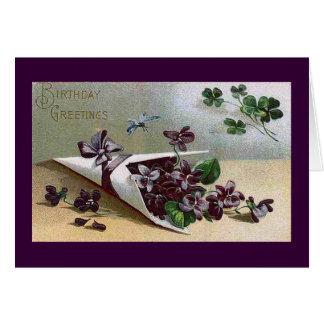 Violetas del Victorian Tarjeta De Felicitación