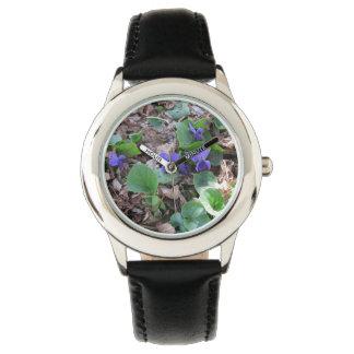 Violetas dulces relojes de pulsera