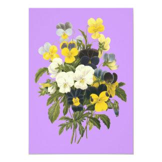 Violetas e invitaciones de encargo florales del comunicados