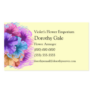 Violetas idas salvajes tarjetas de visita