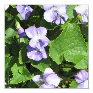 Violetas Invitaciones Personalizada