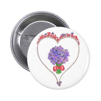 Violetas para mi amor chapa redonda de 5 cm