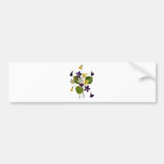 Violetas salvajes clasificadas hechas en bordado d pegatina de parachoque