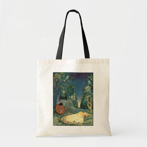 Violette que duerme en el bosque bolsa de mano