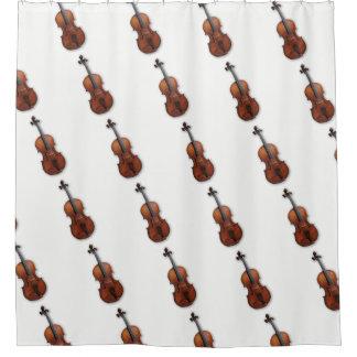 Violín/cortina de ducha fantásticos de la viola cortina de baño