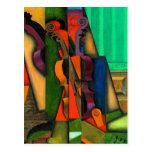 Violín y guitarra de Juan Gris Postal