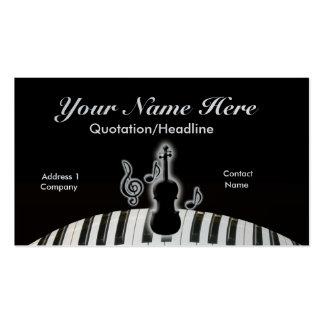 Violín y teclado tarjetas de visita
