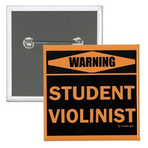 Violinista del estudiante pins